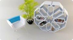 创意多功能书架设计 畅享艺术生活
