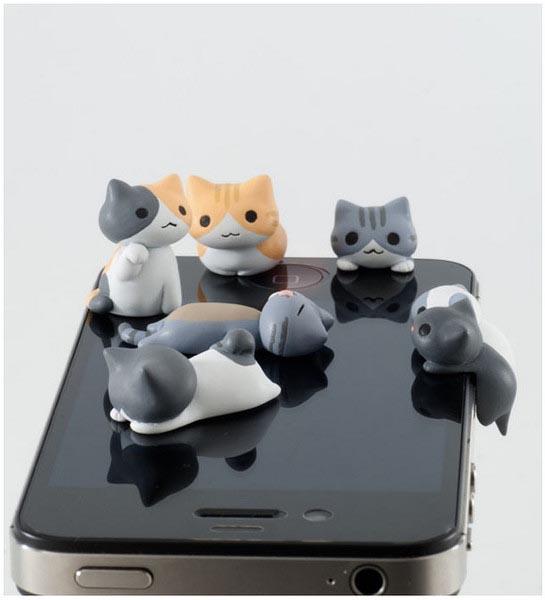 治愈系猫猫iphone耳机塞