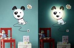 DIY壁灯和墙纸的创意组合 装饰效果3D立体化