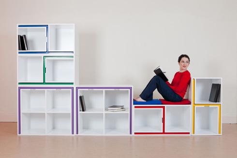 嵌入式桌椅储物格子 小户型收纳更轻松