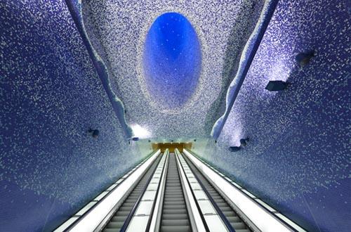 意大利Toledo地铁站设计 浩瀚海洋的梦幻之旅