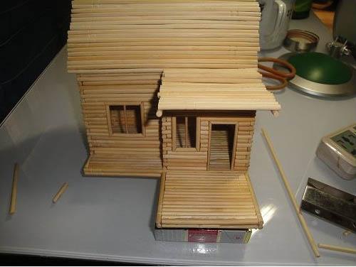 筷子diy小木屋【手工制作小木屋】