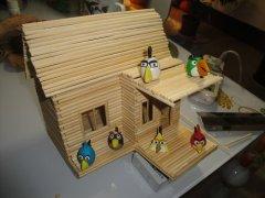 一次性筷子DIY手工制作小木屋教程