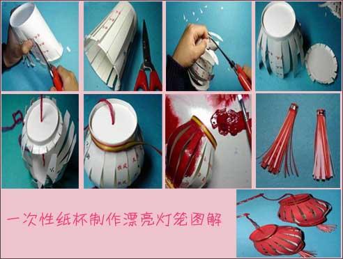 纸杯手工制作灯笼图片教程