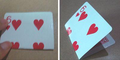 扑克牌制作花瓶
