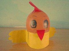 幼儿园鸡蛋壳制作小鸡
