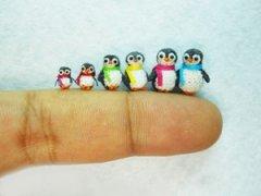 小动物微型针织玩具