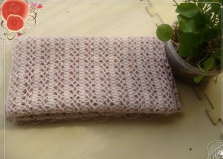 毛线围巾编织花样图解